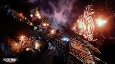 Battlefleet Gothic: Armada is the RTS videogame adaptation of Games Workshop's classic tabletop game, pitting the Chaos, Imperium, Eldar, and Orks against each other in visceral space-battles. Warhammer 40k, Warhammer Fantasy, Cry Anime, Anime Art, Space Marine, Battlefleet Gothic Armada, Saints Row 4, Battle Fleet, Rising Storm