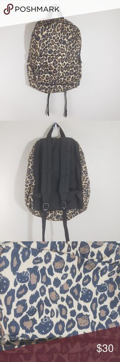 6fc3116e1 Loungefly Hello Kitty Leopard Print Backpack Loungefly Hello Kitty Leopard  Print Backpack EUC Width 16