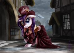 My Little Pony Friendship is Magic Steampunk Rarity --this would be a super cool cosplay!!