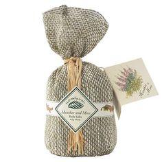 Naturally Irish: Heather  Moss Bath Salts  Price : $13.95 http://www.biddymurphy.com/Naturally-Irish-Heather-Moss-Salts/dp/B0064O60YG