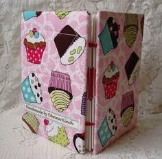 A6 Handmade Cupcakes fabric note book  £4.95
