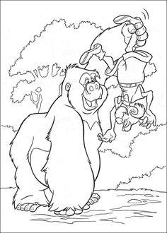 Tarzan Målarbilder för barn. Teckningar online till skriv ut. Nº 35
