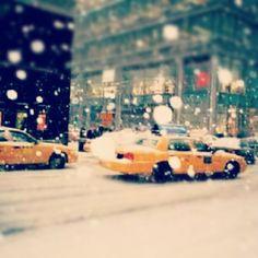snowy #taxi ride