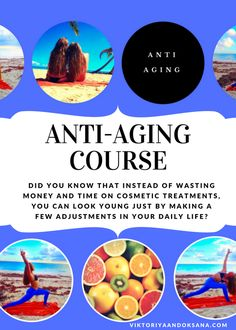 Billions of dollars is spend on anti-aging creams, potions and lotions. Most of these are fad products that often give us little health benefits. There is not any one product, but instead a lifestyle that allows us to age successfully. In this course by @viktoriyaandoks, we will present anti-aging health, diet, and lifestyle tips. #antiagingproducts