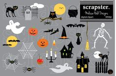 Halloween Clipart by scrapster on Creative Market  #illustrations #graphics