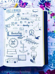 using doodles in your bullet journal