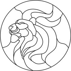 Lion from John's Stained Glass Patterns