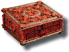 Box of silver, silver-gilt and coral made in Trapani around 1600 seen from the Academy Euromediterranea