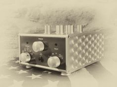 Retro picture  of the new Coffman Labs G-1A Valve Preamplifier, stunning, steam-punky High end hifi. Go to review on Hifipig.com for the review.  #Hifireviews #steampunk