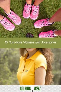 Here are some must have ladies golf accessories that are essential in playing the sport. Ladies Golf, Women Golf, Golf Instruction, Golf Putting, Golf Wear, Golf Training, Golf Lessons, Golf Accessories, Golf Fashion
