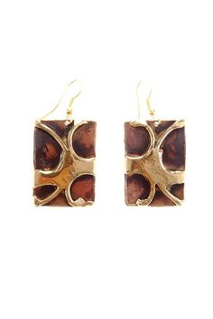 South African handcrafted brass and copper earrings Brass/copper Earrings by Ananda. Accessories - Jewelry - Earrings Chicago, Illinois