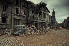 A street in immediate post-World War II Berlin