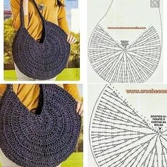 Diy Crafts - Crochet Bag / Simple And Beautiful Croch Beautiful - Diy Crafts Crochet Simple, Free Crochet Bag, Crochet Purse Patterns, Mode Crochet, Crochet Tote, Crochet Handbags, Crochet Purses, Crochet Stitches, Beau Crochet