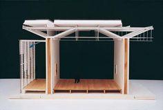 Detail Model - Renzo Piano. Beyeler Foundation Museum Riehen (Basel), Switzerland, 1991/1997. Architecture Graphics, Architecture Drawings, Light Architecture, Architecture Details, Renzo Piano, Bike Shelter, Architecture Model Making, Mini Loft, Basel