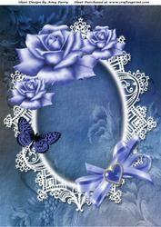 Beautiful Blue Roses A4