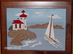 Safe Passage Ocean Scenes, 3 D, Flag, Wall Hangings, Painting, Decor, Decoration, Decorating, Painting Art