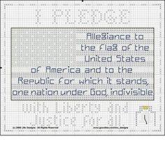 Bits of Floss: Freebie: Pledge of Allegiance