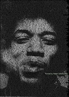 Textportraits by Ralph Ueltzhoefer Speak Volumes #typography #typographyproducts trendhunter.com