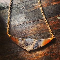 Piranha agate and diamond necklace. #royalnomadjewelry