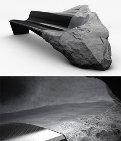 the organic form of the stone reminds the viewers of the prehistoric era. This hybrid sofa is part raw volcanic lava, part ultra-sleek carbon fiber. The ONYX sofa by Peugeot Design Lab in collaboration with designer Pierre Gimbergues features lava sourced form 'the Auvergne,' a landmark dating back almost 11,000 y ears.