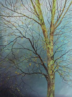 I live and paint from my studio in Cornwall. I am largely self taught in watercolours and have been painting with them for 20 years. I am inspired man. Tree Branches, Trees, Tree Tree, Single Tree, Dark Skies, Artist Painting, Art Oil, Painting Inspiration, My Arts