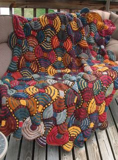 Free Knitting Pattern for African Adventure Afghan - This colorful patchwork quilt is perfect use for scrap yarn. You can make smaller versions to use as table runners and more. Designed by Horst Schulz at South African workshops.Pictured projectby hermanm