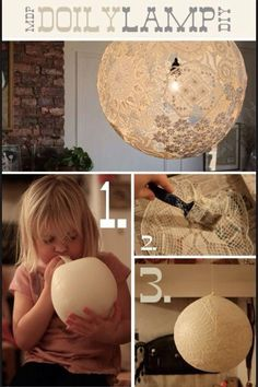 How to make lace lampshade