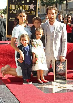 Matthew McConaughey, his wife Camila Alves, and their three children, Livingston, Levi, and Vida.
