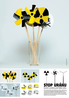 Pinwheel for the protest against uranium mining on Behance