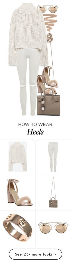 """""""Untitled #8072"""" by nikka-phillips on Polyvore featuring Cartier, Christian Dior, Office, Topshop, Zara and Yves Saint Laurent"""