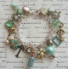 Love the use of old jewelry!