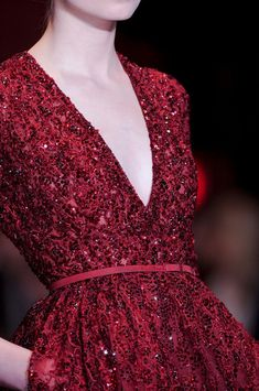 www.chezagnes.blogspot.com Details at Elie Saab Couture Fall 2013