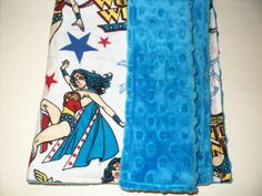 Wonder Woman Baby Blanket Security Blanket 19X23 by AuntBsBonnets