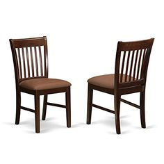 East West Furniture NFCMAHC Dining Room Chair Set with Upholstered Seat Mahogany Finish Set of 2 >>> Check out the image by visiting the link.Note:It is affiliate link to Amazon.