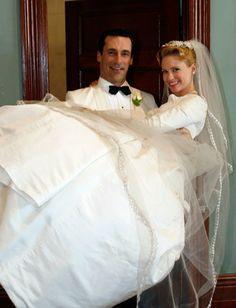 Newlyweds Don and Betty Draper ca. 1952