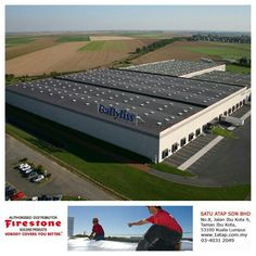 BaByliss building, France - using Firestone RubberGard EPDM membrane, offering unmatched resistance to ozone and UV radiation