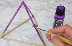 DIY 3D Geometric Shapes - inexpensive tumblr room decor from wooden dowels