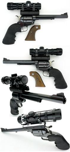 RUGER SUPER BLACKHAWK - .44 MAG REVOLVER WITH TASCO SCOPE - http://www.RGrips.com