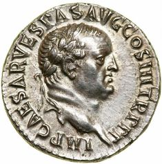Vespasian. Silver Denarius (3.50 g), AD 69-79.. EF Ephesus, AD 71. IMP CAESAR VESPAS AVG COS III TR P P P, laureate head of Vespasian right. AVG / E(PHE) in two lines within wreath. RIC 1427; RPC 829; BMC 452; RSC 40. Very scarce. Boldly struck in high relief and perfectly centered. A needle sharp example with luster present. Estimated Value $2,500 - 3,000. #Coins #Ancient #Silver #MADonC