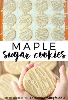 Maple Sugar Cookies | Fall Treat - A light drizzle of maple glaze is the perfect finish for these simple, delicious cookies!