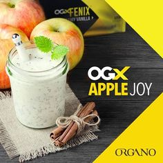 Good health never tasted so good. Get started today at: www.hillhealthycafe.myorganogold.com #hillhealthycafe Try this awesome recipe: Apple JOY  1 scoop ogxFENIX™ Vanilla Mix  8 oz. Skim or Non-fat Milk  3 tsp No sugar added apple sauce  2 tsp Cinnamon  1/2 tsp Vanilla extract  3-5 Ice Cubes Blend and Enjoy