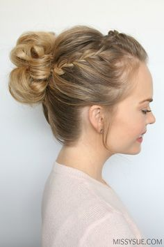 Prom is coming up and I've received soooo many requests for a high bun tutorial. I am in love with this style that features a cute lace braid in a headband style accompanied by a second lace …