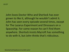 The Divine Gatiss lurks beneath yet more Who, but yes, I love this head cannon... And possible implications of keeping John from seeing a certain big game hunter. Always love all mentions and delightful imaginings in regards to that....