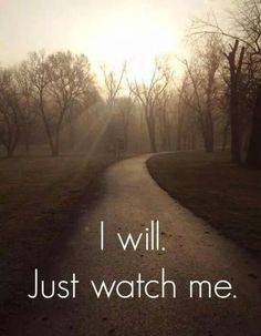 I Will-- will you??