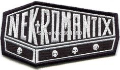 NEKROMANTIX coffin logo PATCH psychobilly Music Band Embroidered SEW IRON ON Applique Badge Rock punk heavy metal