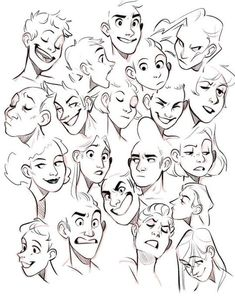 Ideas Drawing Reference Face Angles Facial Expressions For 2019 Cartoon Drawings Of People, Drawing People, Cartoon Art, Drawing Cartoon Faces, Cartoon Illustrations, Cartoon Sketches, Cartoon Design, Boy Drawing, Drawing Sketches