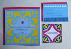 Invitations - Mexican tile look; no idea what I would use these for but, I love them.