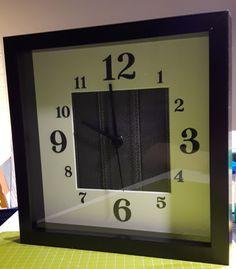 Selbstgebastelte Uhr aus kleinem Ribba Rahmen