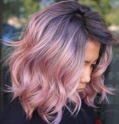 Pastel Pink Bob For Thick Hair Más