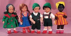 A Cherished Collection - Madame Andrée Petyt: 364 Five German Character Dolls by Kathe Kruse